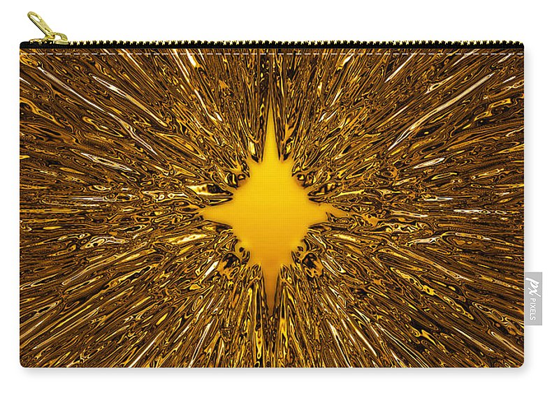 Background Carry-all Pouch featuring the digital art Gold Star by Steve Ball