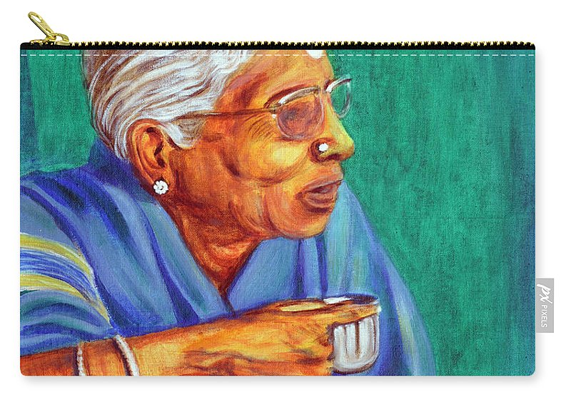 Usha Carry-all Pouch featuring the painting Golden Age 2 by Usha Shantharam