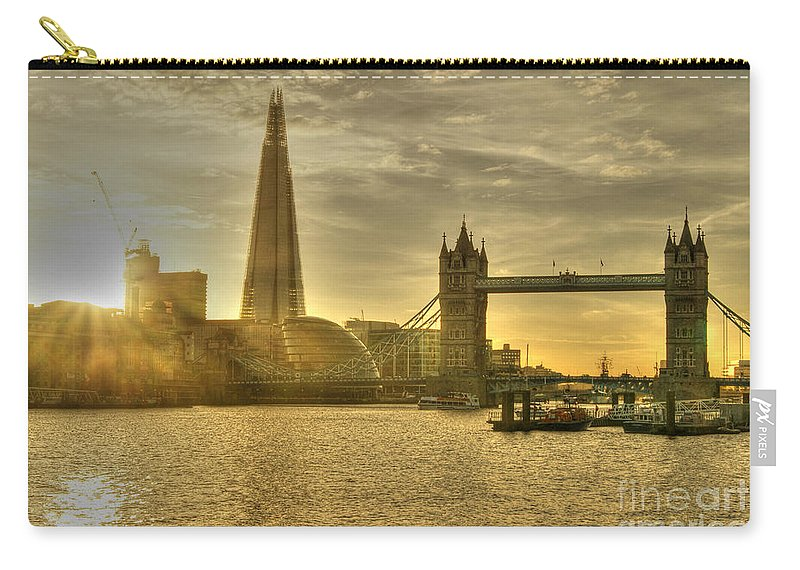 Shard Carry-all Pouch featuring the photograph Golden City by David Birchall