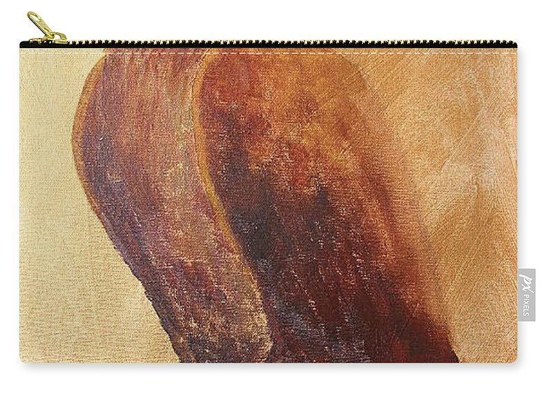 Golden Eagle Carry-all Pouch featuring the painting Golden Eagle by Richard Le Page