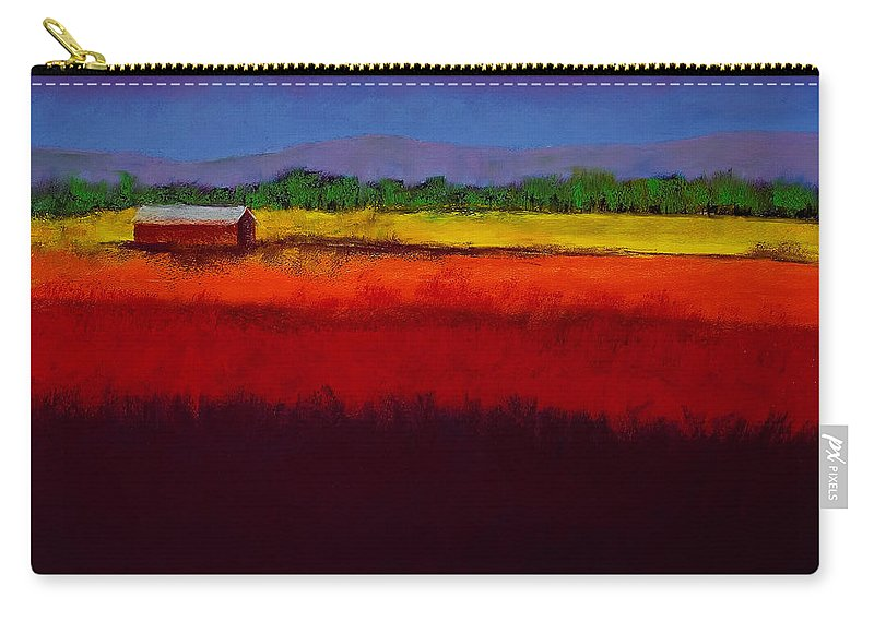 Golden Field Carry-all Pouch featuring the painting Golden Field by David Patterson