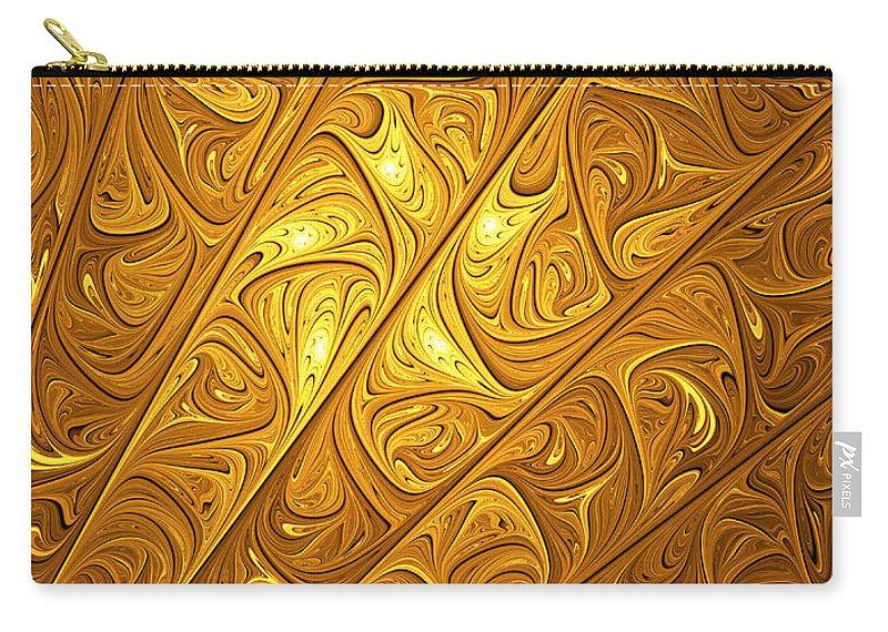 Digital Art Carry-all Pouch featuring the digital art Golden by Gabiw Art