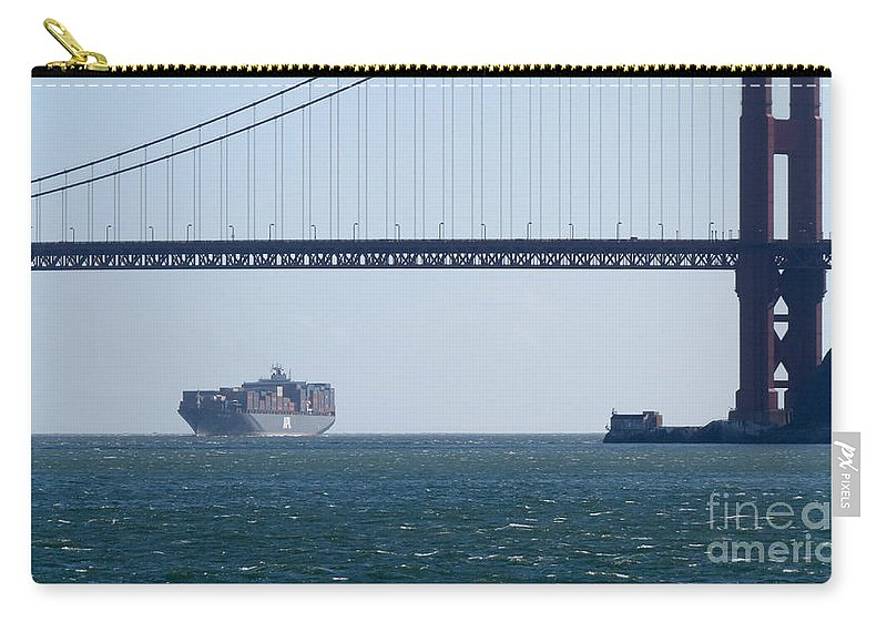 Travel Carry-all Pouch featuring the photograph Golden Gate Bridge 3 by Mary Mikawoz