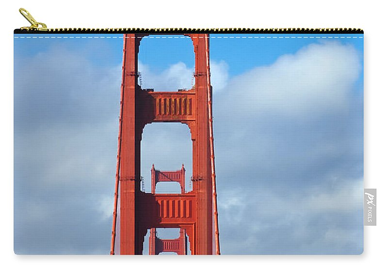 3scape Carry-all Pouch featuring the photograph Golden Gate Bridge by Adam Romanowicz