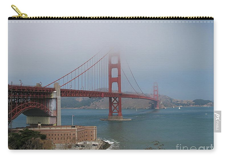 San Francisco Carry-all Pouch featuring the photograph Golden Gate Bridge And Fort Point by Christiane Schulze Art And Photography