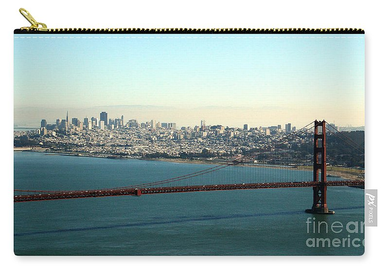 Golden Gate Bridge Carry-all Pouch featuring the photograph Golden Gate Bridge by Linda Woods