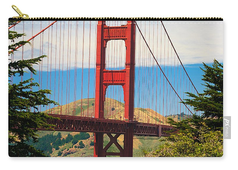 Architecture Carry-all Pouch featuring the photograph Golden Gate Bridge by Raul Rodriguez