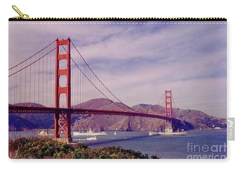 Golden Gate San Francisco Carry-all Pouch featuring the photograph Golden Gate San Francisco by John Malone