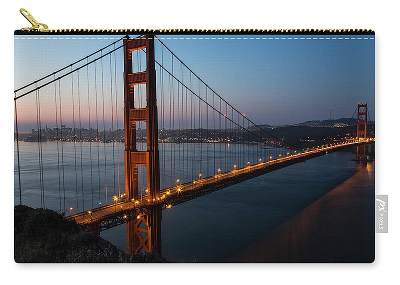 San Francisco Carry-all Pouch featuring the photograph Golden Gate Sunrise by John Daly