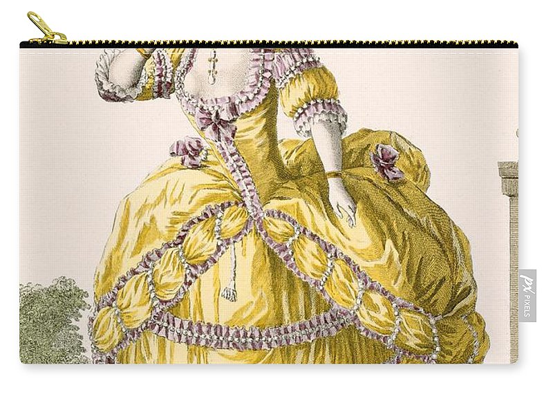 Clothing Carry-all Pouch featuring the drawing Golden Gown, Engraved By Dupin, Plate by Pierre Thomas Le Clerc