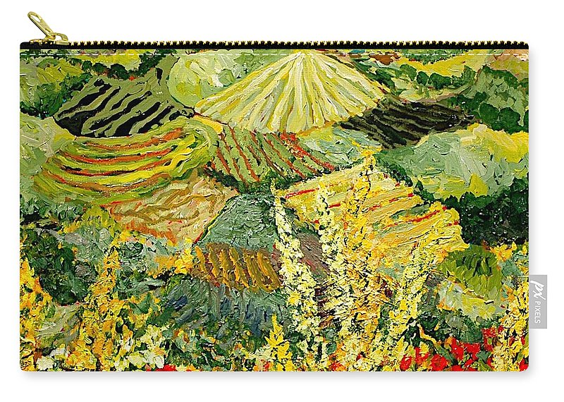 Landscape Carry-all Pouch featuring the painting Golden Hedge by Allan P Friedlander