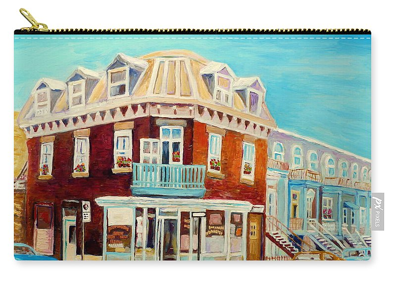 Bakeries Carry-all Pouch featuring the painting Golden Homemade Baked Goods by Carole Spandau