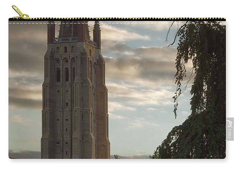 Golden Hour Carry-all Pouch featuring the photograph Golden Hour Church Glow by Joan Carroll