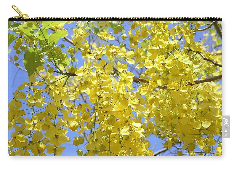 Yellow Carry-all Pouch featuring the photograph Golden Medallion Shower Tree by Mary Deal