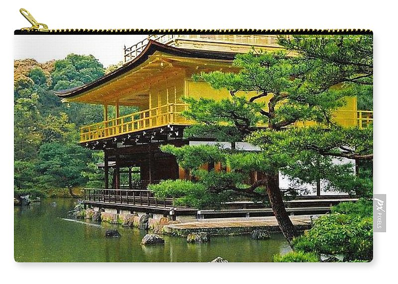 Asia Carry-all Pouch featuring the photograph Golden Pavilion - Kyoto by Juergen Weiss