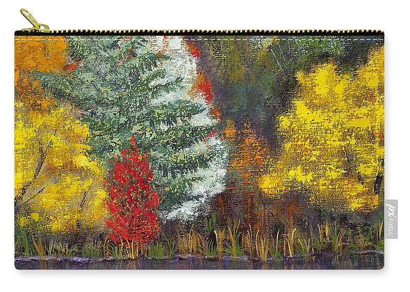 Landscape Carry-all Pouch featuring the painting Autumn Tapestry by Margaret Bobb
