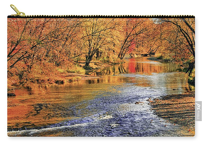 Landscape Carry-all Pouch featuring the photograph Golden Reflections by Marcia Colelli