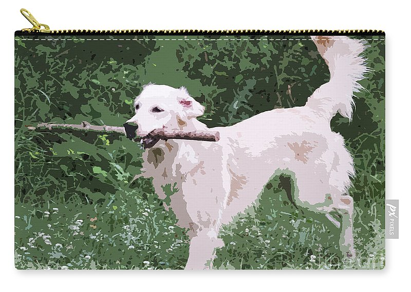 Labrador Carry-all Pouch featuring the photograph Golden Retreiver by Jivko Nakev