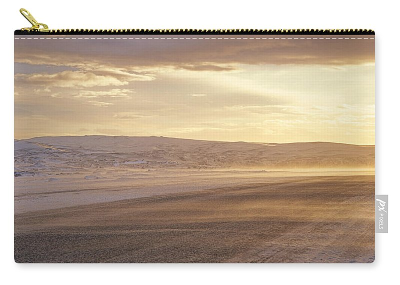 Beautiful Carry-all Pouch featuring the photograph Golden Road by Zina Zinchik
