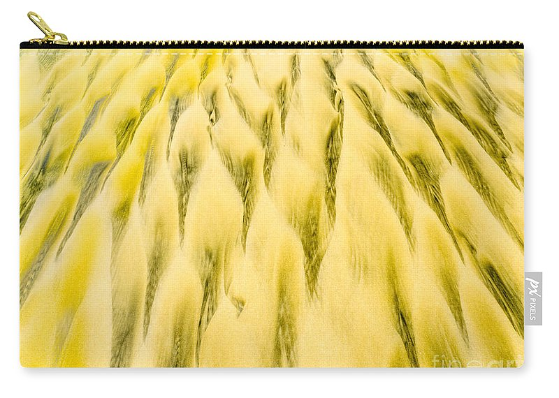 Abstract Carry-all Pouch featuring the photograph Golden Sand Pattern Created By Surf On Beach by Stephan Pietzko
