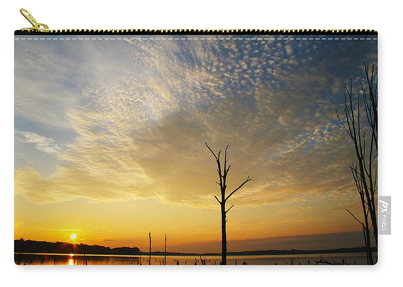 Sunrise Carry-all Pouch featuring the photograph Golden Shadows by Roger Becker