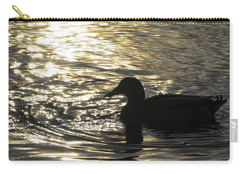 Matt Matekovic Carry-all Pouch featuring the photograph Golden Silhouette by Photographic Arts And Design Studio