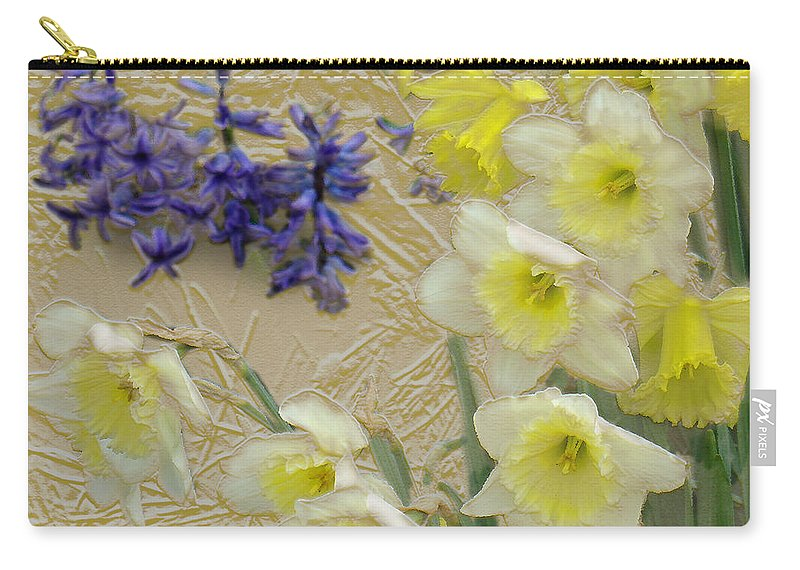 Landscape Carry-all Pouch featuring the digital art Golden Spring by Steve Karol