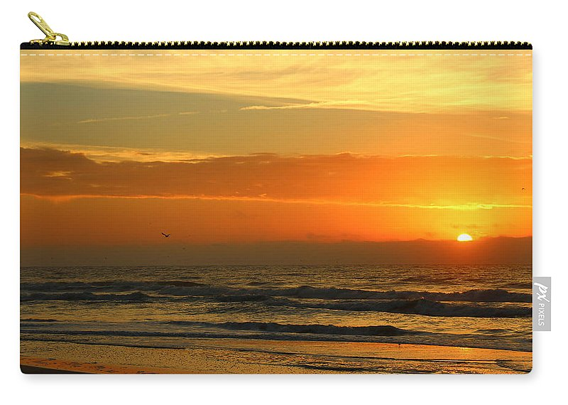 Topsail Carry-all Pouch featuring the photograph Golden Sun Up by Rand Wall