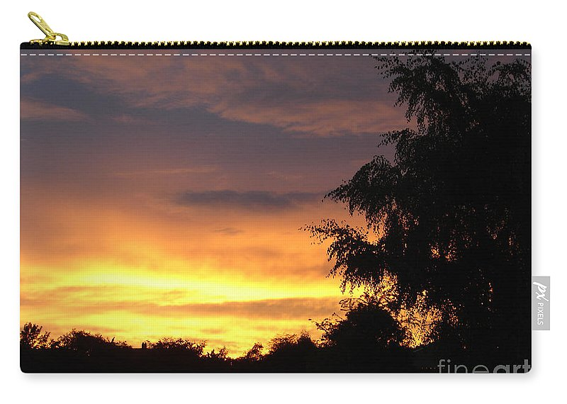 Sunset Carry-all Pouch featuring the photograph Golden Sunset 3 by Carol Lynch