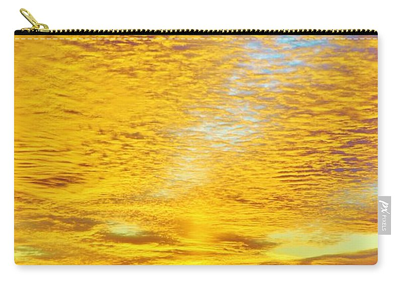 Beach Bum Pics Carry-all Pouch featuring the photograph Golden Sunset by William Bartholomew