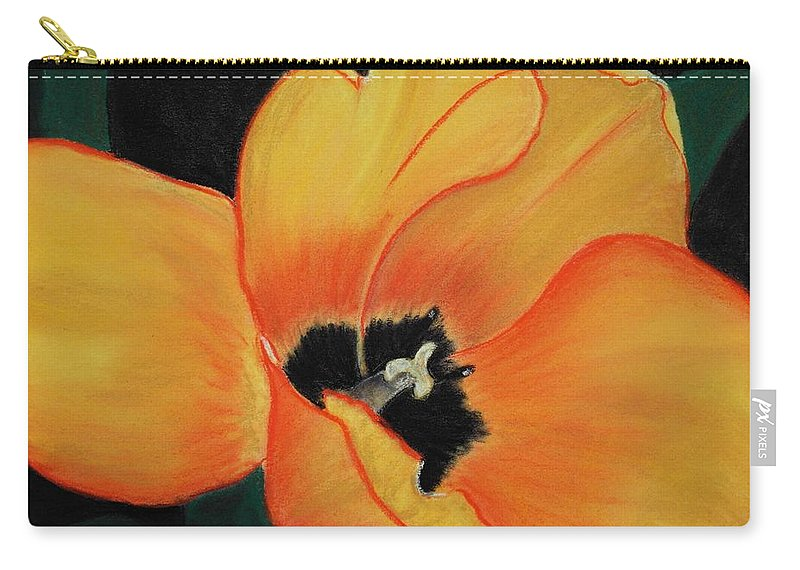 Malakhova Carry-all Pouch featuring the painting Golden Tulip by Anastasiya Malakhova