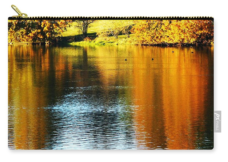 Baton Rouge Carry-all Pouch featuring the photograph Golden Water by Lizi Beard-Ward
