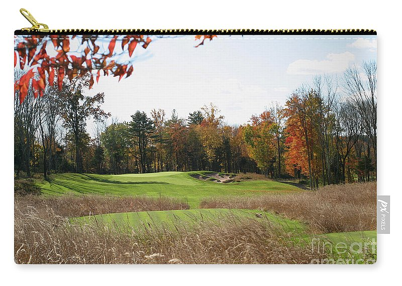 Golf Carry-all Pouch featuring the photograph Golf Anyone? by Living Color Photography Lorraine Lynch