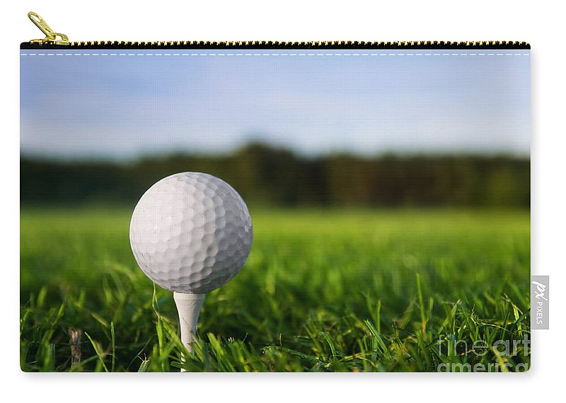 Golf Ball On Tee Carry All Pouch For Sale By Michal Bednarek