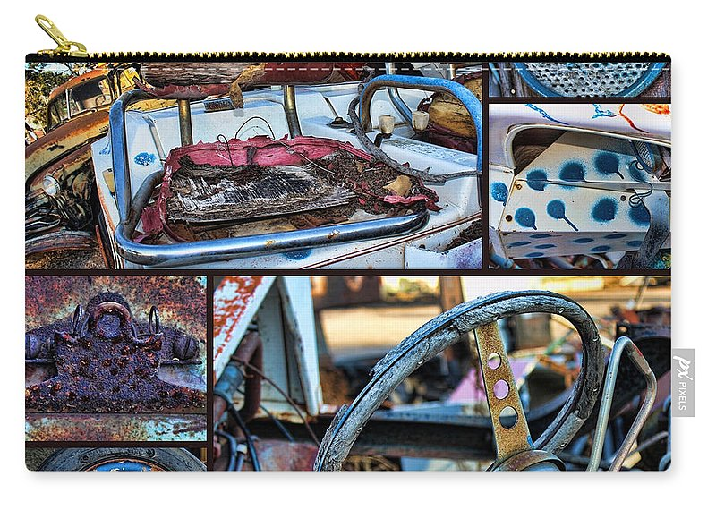 Collage Carry-all Pouch featuring the photograph Golf Cart Collage by Sylvia Thornton