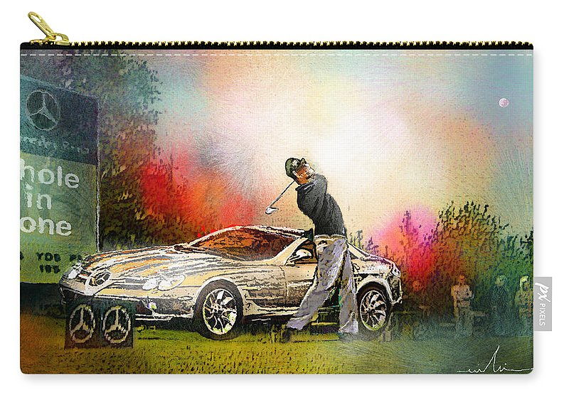Golf Carry-all Pouch featuring the painting Golf In Gut Laerchehof Germany 03 by Miki De Goodaboom