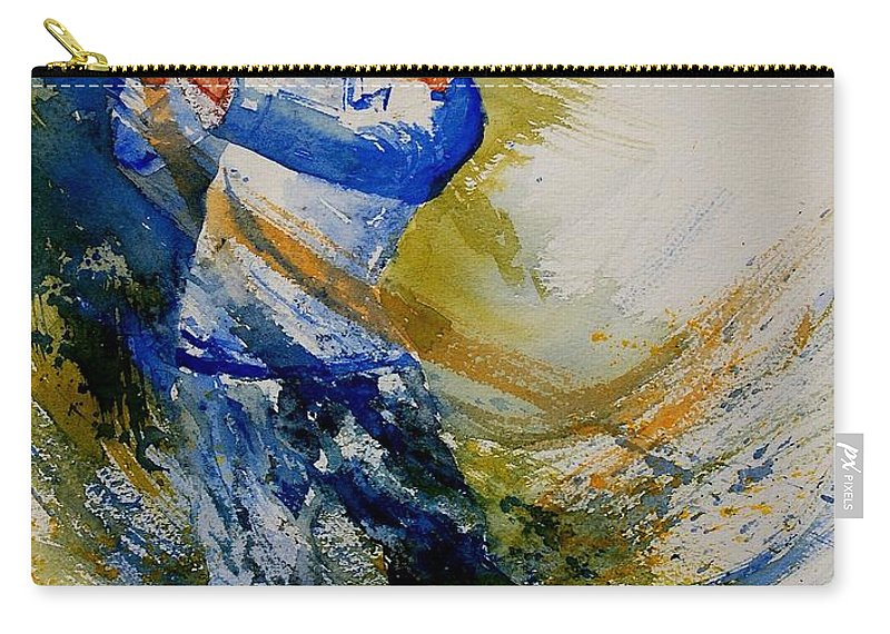 Golf Carry-all Pouch featuring the painting Golf Player by Pol Ledent