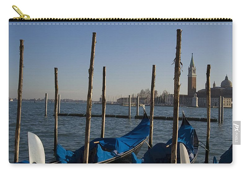 Travel Carry-all Pouch featuring the photograph Gondolas In The Bacino Di San Marco by Jason O Watson