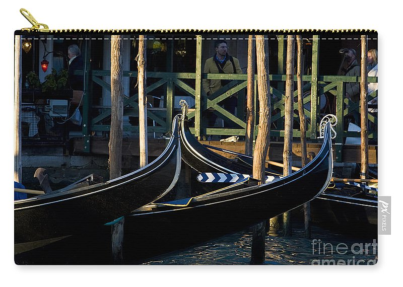 Travel Carry-all Pouch featuring the photograph Gondolas In Venice by Jason O Watson