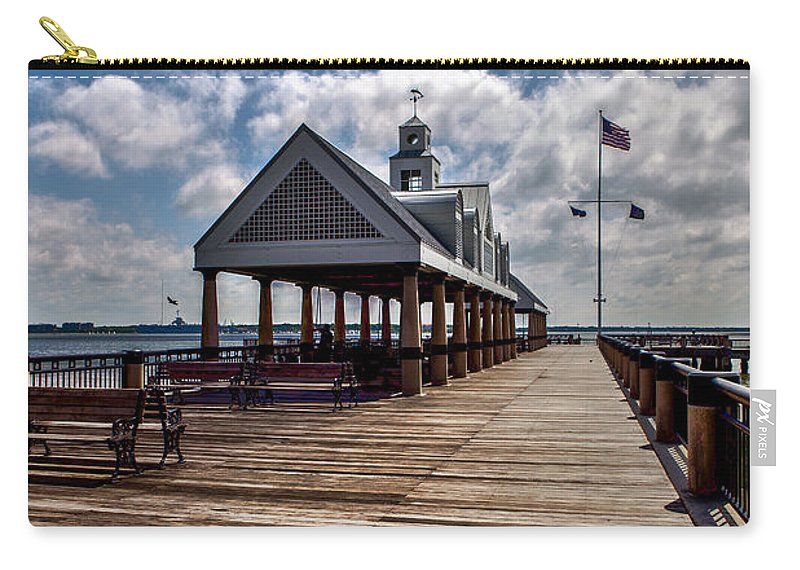 Landscape Carry-all Pouch featuring the photograph Gone Fishing by Sennie Pierson
