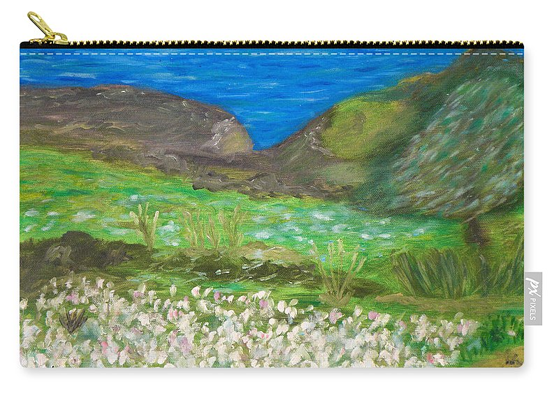 Gone With The Wind Carry-all Pouch featuring the painting Gone With The Wind by Augusta Stylianou
