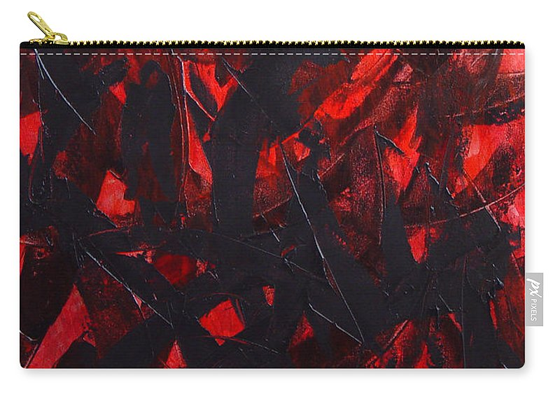 Abstract Carry-all Pouch featuring the painting Good Bye by Dean Triolo