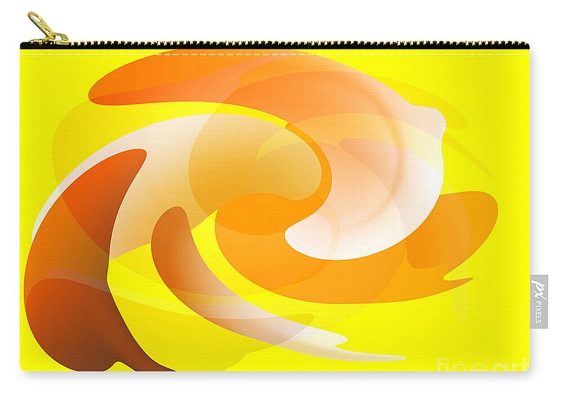 Yellow Carry-all Pouch featuring the digital art Good Doggy by Rob Hawkins