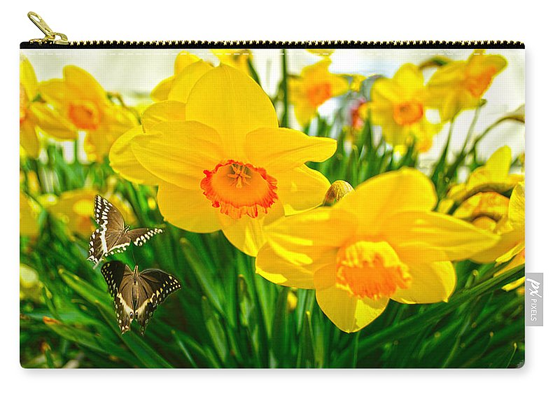 Flower Paintings Paintings Photographs Carry-all Pouch featuring the photograph Good Morning by Mayhem Mediums