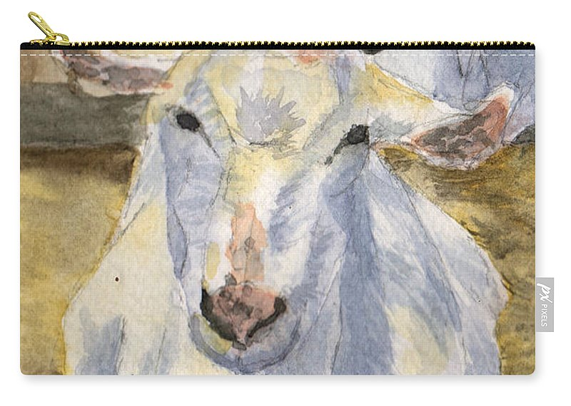 Goat Carry-all Pouch featuring the painting Good Morning by Sharon E Allen