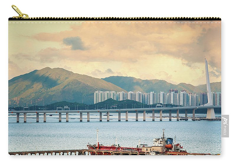 Outdoors Carry-all Pouch featuring the photograph Good Morning Shenzhen & Hong Kong by Capturing A Second In Life, Copyright Leonardo Correa Luna