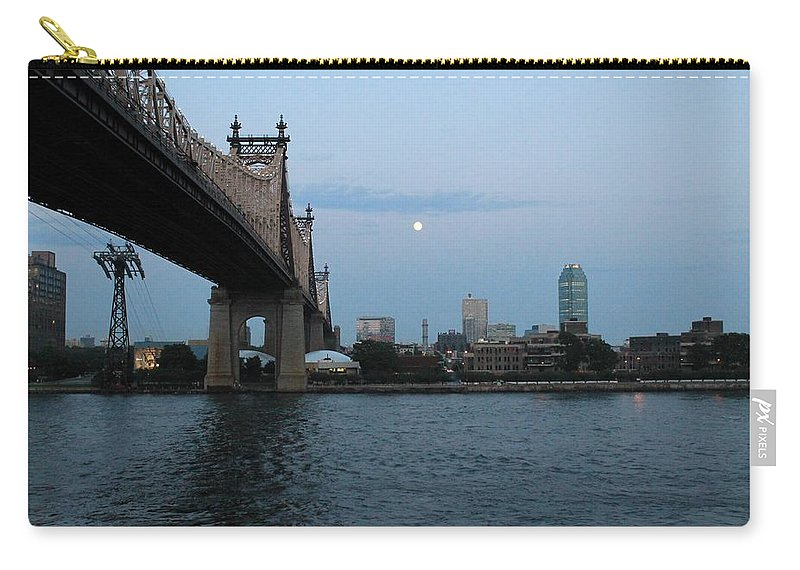 Queensboro Bridge Carry-all Pouch featuring the photograph Good Night Moon by Catie Canetti