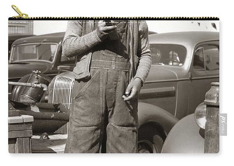 Boy Carry-all Pouch featuring the photograph Good Old Boy by Marilyn Hunt