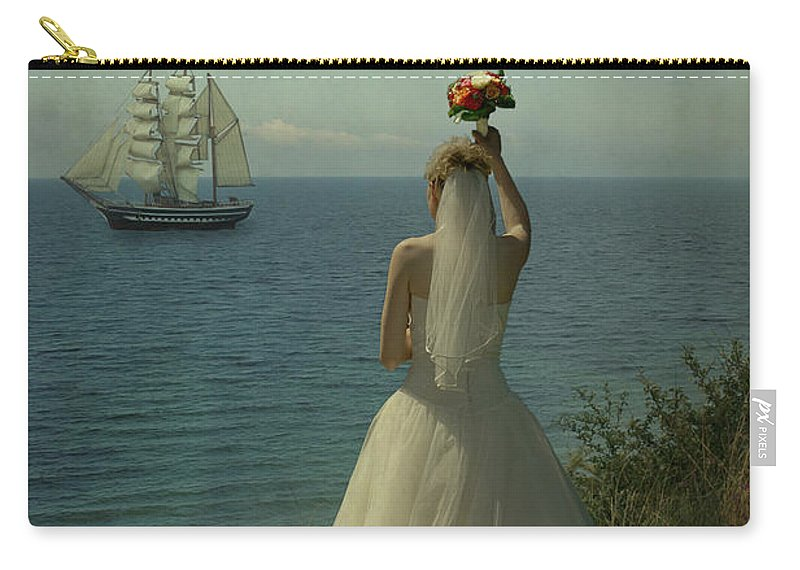 Bridal Carry-all Pouch featuring the digital art Goodbye My Love by Ma Bu