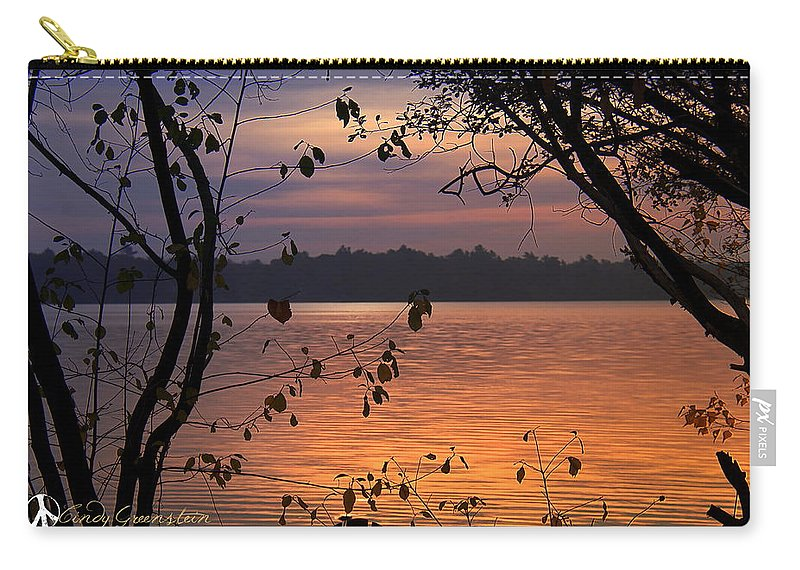 Lake Carry-all Pouch featuring the photograph Goodnight Lake by Cindy Greenstein